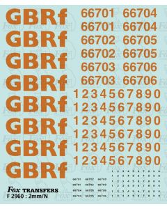 GBRf lettering/TOPS numbering 66701-66706