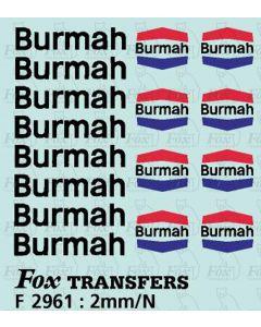 Burmah Class A Tanker Logos