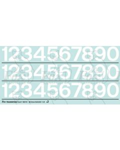 Standard Blue Livery Numbering 18.3mm high