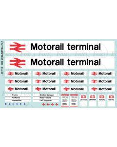 Motorail terminal signage