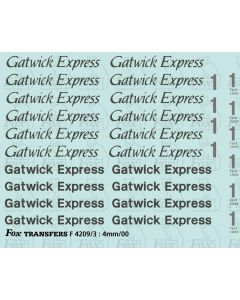 Gatwick Express Coach Lettering/Detailing