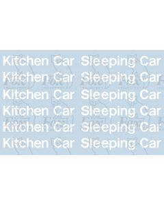 InterCity Blue/Grey Livery Lettering - Kitchen Car & Sleeping Car