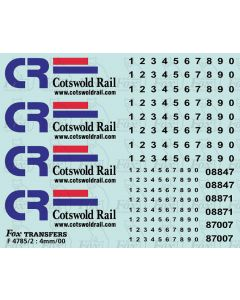 Cotswold Rail Class 87 & revised 08 Livery Elements