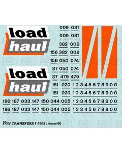 Loadhaul Class 37 & 122 Loco Livery Elements
