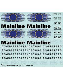 Mainline Freight Logos/Detailing Class 58 & 60