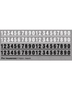 Tank Vehicle Numbering - 5mm high in white & black