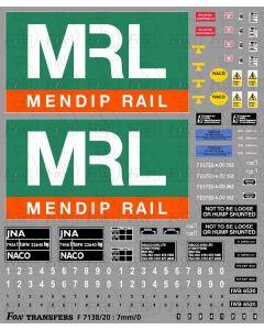 MRL Mendip Rail JNA Bogie Hopper Complete Livery
