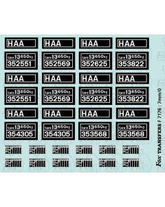 HAA Merry-go-round Hopper data/maintenance panels