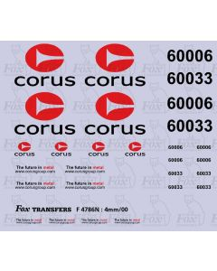 Corus brandings for Class 60 silver-liveried locos