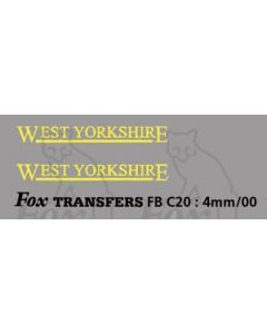 FLEETNAMES - WEST YORKSHIRE