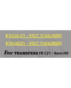 FLEETNAMES - KEIGHLEY WEST YORKS