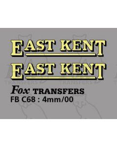 FLEETNAMES - EAST KENT (25mm wide)