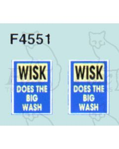 Advertisement 1940s & 1950s - WHISK DOES THE BIG WASH