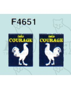 Advertisement 1940s, 1950s & 1960s - take COURAGE