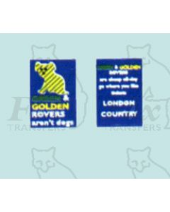 Advertisement 1950s & 1960s - GOLDEN ROVERS arent dogs..