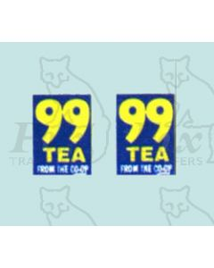 Advertisement 1950s & 1960s - 99 TEA  FROM THE CO-OP