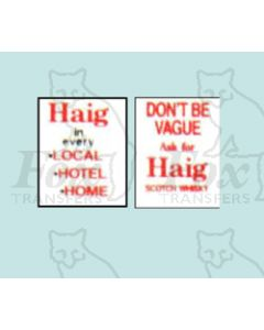 Advertisement 1950s & 1960s - Haig in every LOCAL HOTEL