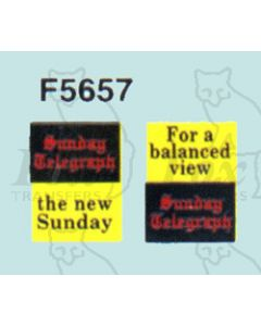 Advertisement 1950s & 1960s - Sunday Telegraph the new S