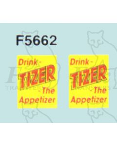 Advertisement 1950s & 1960s - Drink TIZER The Appetizer