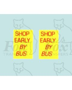 Advertisement 1960s - SHOP EARLY BY BUS
