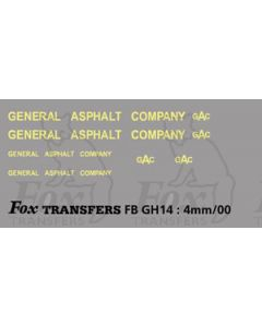 TRANSPORT COMPANIES - GENERAL ASPHALT cream