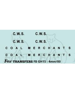 TRANSPORT COMPANIES - C.W.S. COAL