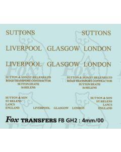 TRANSPORT COMPANIES - SUTTONS