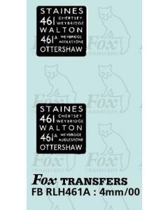 DESTINATION SCREENS - STAINES - WALTON OTTERSHAW