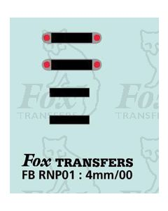 Numberplate blanks - Rear number plate set in silver oval badge