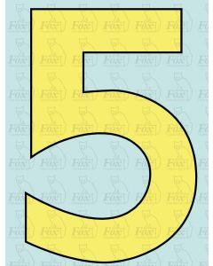 9 inch Cabside Numbering