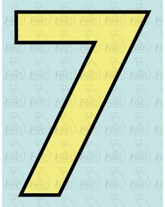 Running Numbering Cream/Black outline - 4 inch