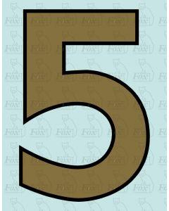 Running Numbering Metallic Gold/Black outline - 4 inch
