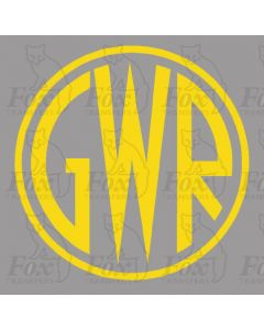 GWR Shirtbutton Motif - Size 2 - SUPPLIED AS SELF ADHESIVE VINYL