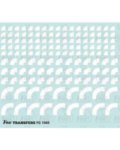 Corners in white - Radius Corners, 3 sizes 2.5mm