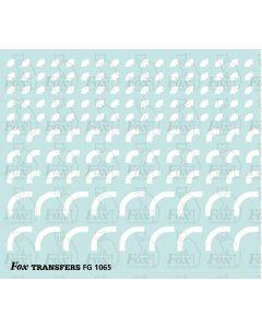 Corners in white - Radius Corners, 3 sizes 1.5mm