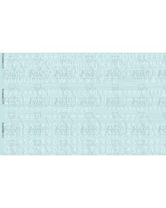Alphabet in white - Gill Light, 10mm