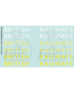 Original LNER style British Railways Lettering (9 inch)