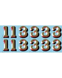 LMS 1920s Serif style Coaching Stock Exterior Door 1 & 3 Classifications