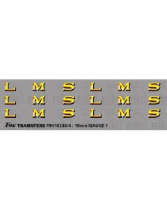 LMS 1930s style Coaching Stock Lettering