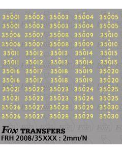 Steam Cabside Numbersets 35001-35030
