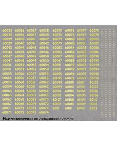 Cabside Numbersets for Gresely A3s