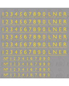 LNER WARTIME BLACK Class A4 Streamlined Loco Lettering/Numbering (SEPT 1946-1948)