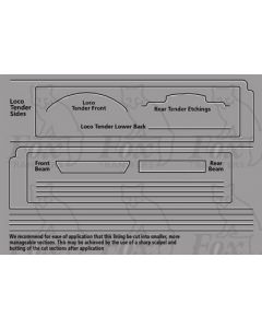 LNER A3 Class Loco white/black lining for tender