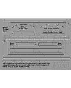 LNER A3 Class Loco white/black lining for Water Tender