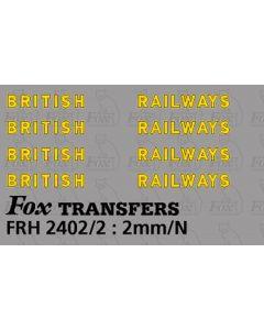 SR - BRITISH RAILWAYS Bulleid Lettering