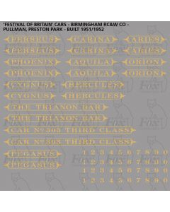Pullman Namesets and Numbersets