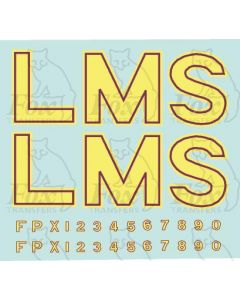 LMS Post-War Locomotive Livery Lettering