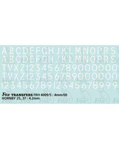 Loco/DMU Train Reporting Alpha-Numerics 4.2mm (As FRH4009)