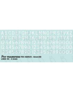 Loco/DMU Train Reporting Alpha-Numerics 3.5mm (As FRH4009)