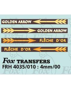 GOLDEN ARROW and FLECHE D'OR